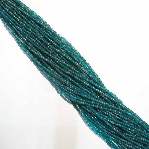 CG 3X4MM facetd rondel MATT TEAL AB 125p