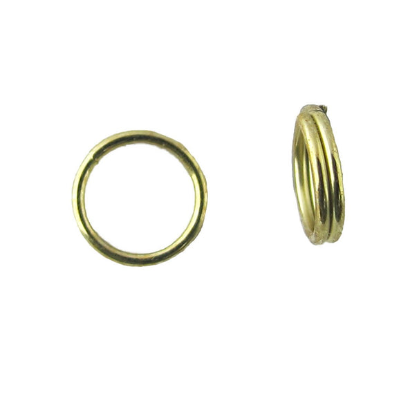 metal 6mm split ring gold 20 pcs