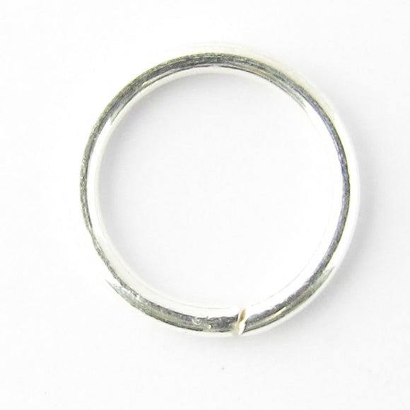 sterling sil 9x1mm soldered ring 2pcs