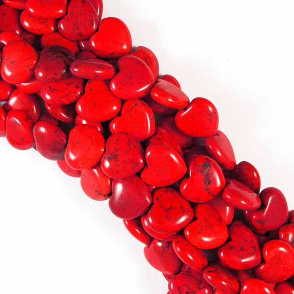 Semi prec 18mm heart V hole how red 25p