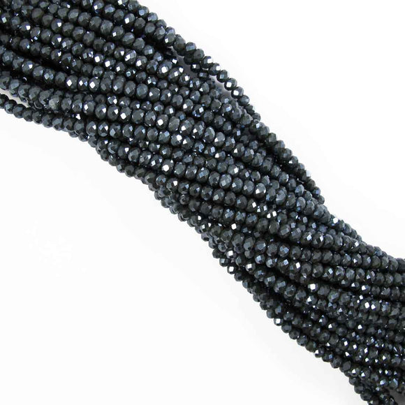 Cg 4x6mm faceted ronde hematite 85pc
