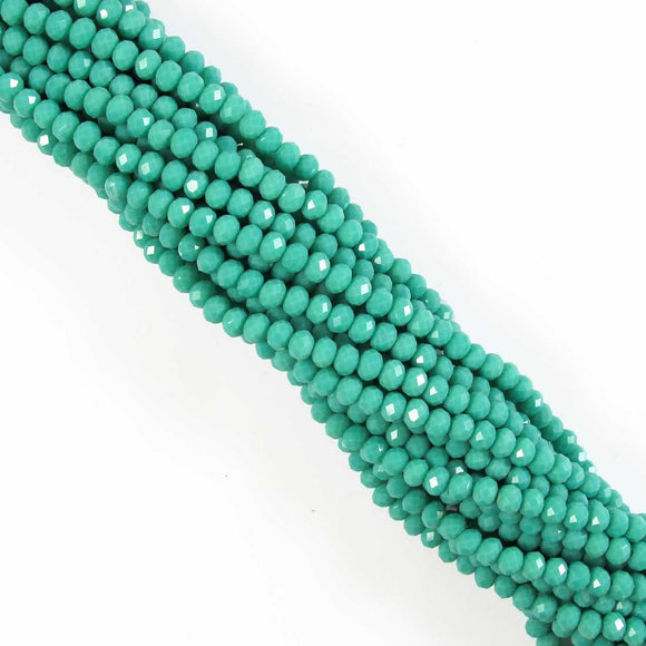cg 4x6mm faceted ronde teal 105pc