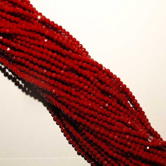 Cg 3.5mm rnd faceted red 110+pcs