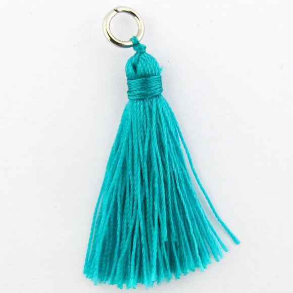 Thread 30mm Tassel teal 4pcs