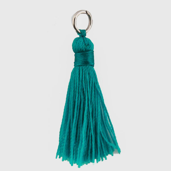 Thread 30mm Tassel dark teal 4pcs