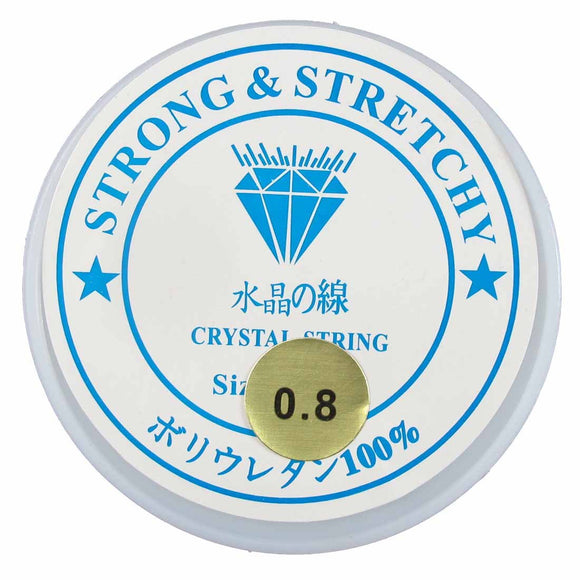 Elastic .8mm clear (S&S) 1 roll 38mts