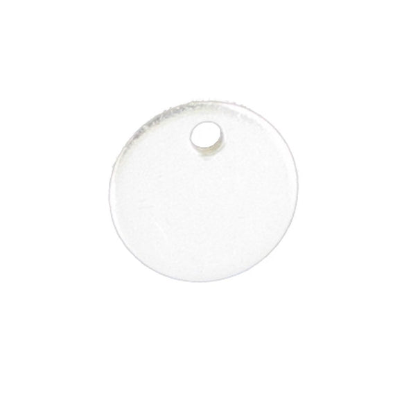 Sterling sil 6mm flat disc top hole 4pcs