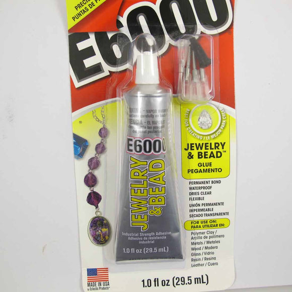 Glue E6000 1oz Jewell & Bead 4 tips 1p