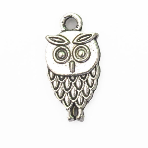 Metal 18mm owl charm NKL 8pcs