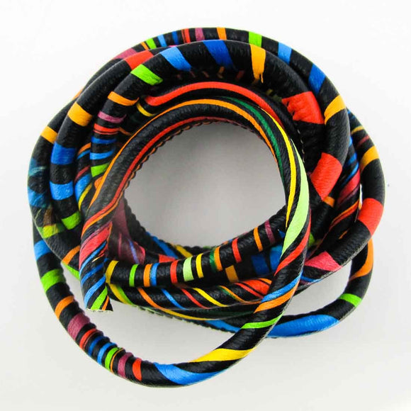 Cord 5mm rnd african cord multi col 2mts