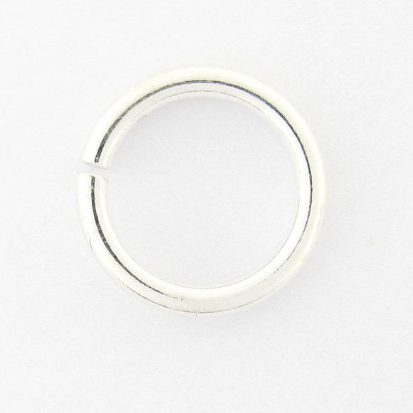 Sterling sil 4.5mm x .9mm jum ring 10pcs