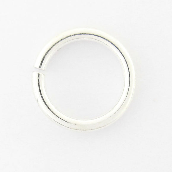 Sterling sil 4mm x .9mm jum ring 10pcs