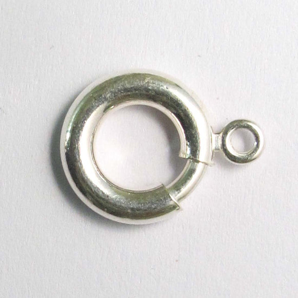 Sterling sil 12mm rnd drop bail 1pc