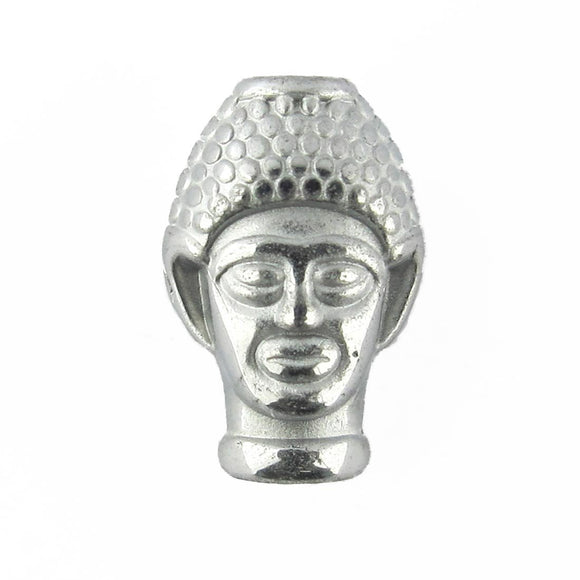 Semi prec 15x10mm buddha silver 4pcs