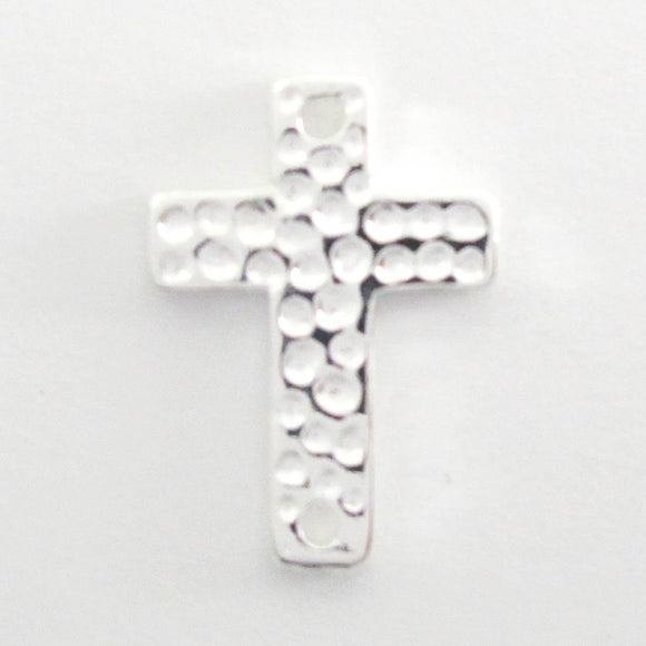 Metal 16x12mm cross dimple NF 2h sil 6p
