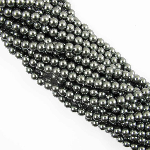 cg 8mm rnd pearl dark grey 53pcs