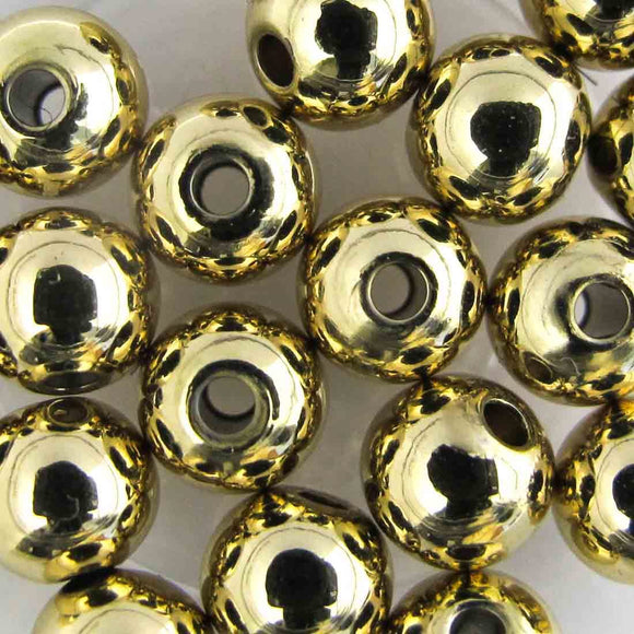 Metal 6mm rnd 1.5mm hole NF GOLD 20p