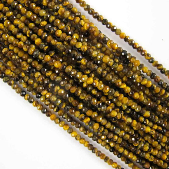 Semi prec 2mm rnd face tiger eye 170+p