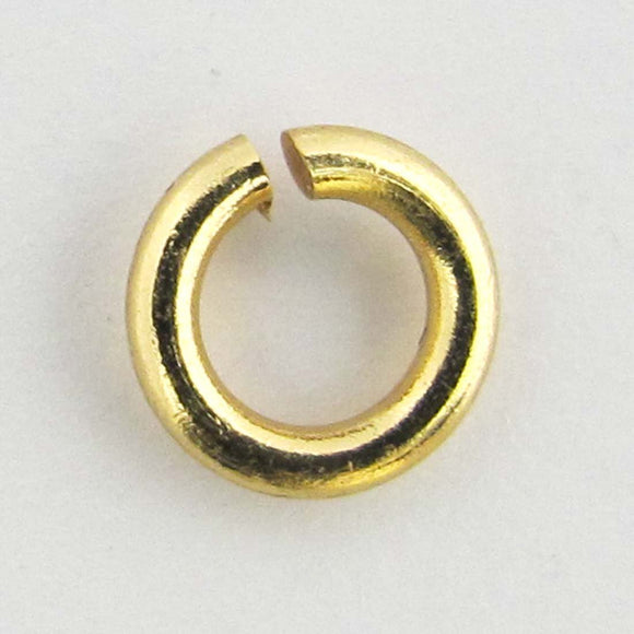 Metal 6x1.2mm jumpring NF gold 20pcs