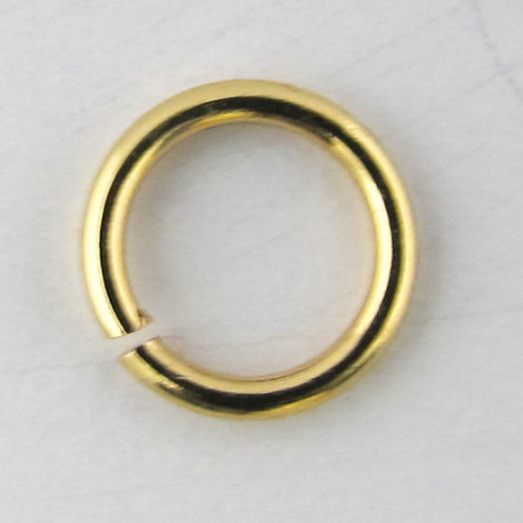 Metal 6X.8mm jumpring NF GOLD 20pcs