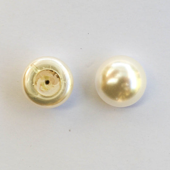 Swarovski 10mm 5817 1/2 drilled white 10