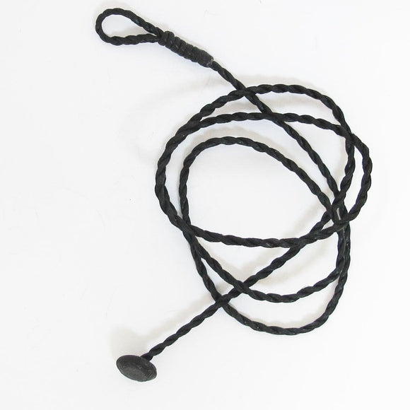 Cord 2mm twisted necklace 50cm blk 3pc