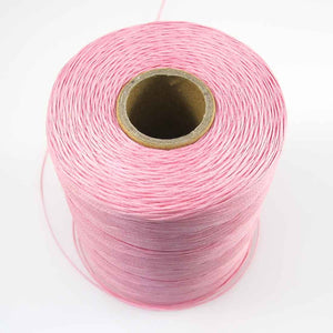 Waxed 1mm linen baby pink 350metres