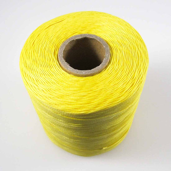 Waxed 1mm linen yellow 350metres