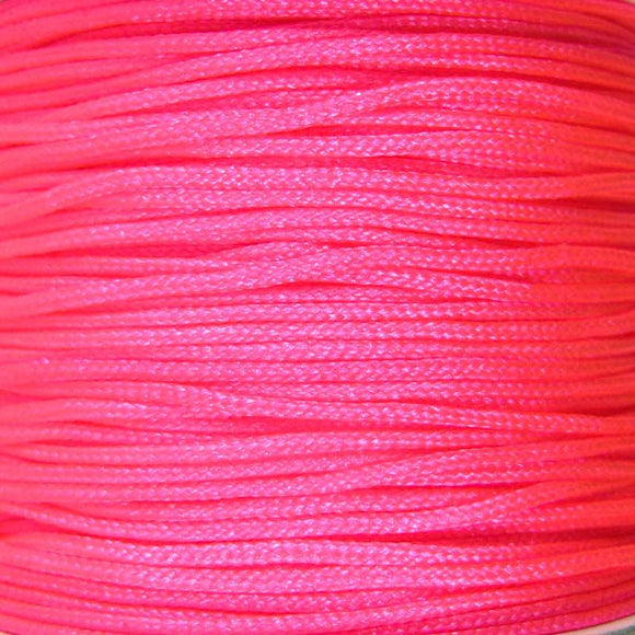 Cord 1mm rnd woven fluro pink 60 metres
