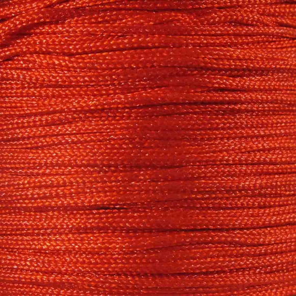 Cord 1mm rnd woven red 60metres