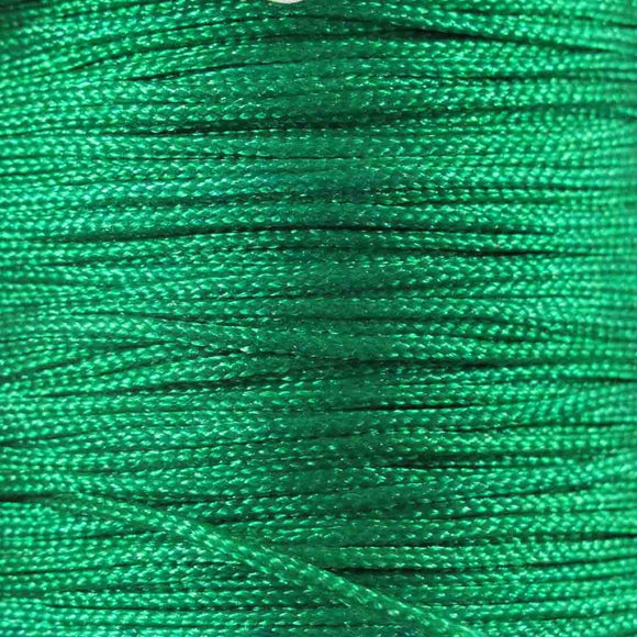 Cord 1mm rnd woven emerald 60metres