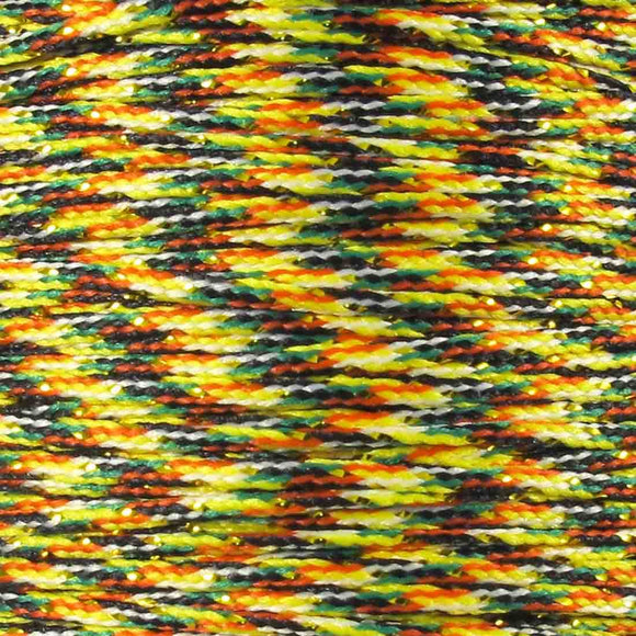 Cord 1mm rnd woven gold multi 60mtrs
