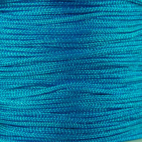 Cord 1mm rnd woven azure blue 60metres