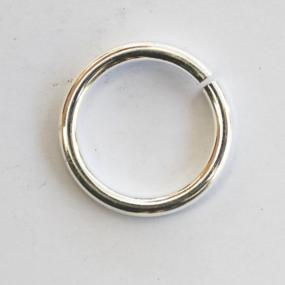 Metal 15x1.8mm jump ring silver 50pcs
