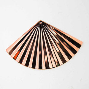 Metal casting 35x55mm rippld rose gold 2