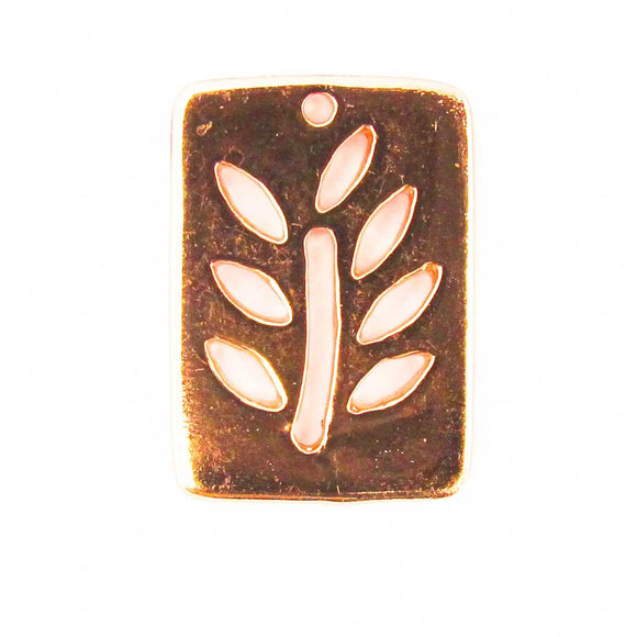 metal 19x14mm rectangle tree NF R GLD 10