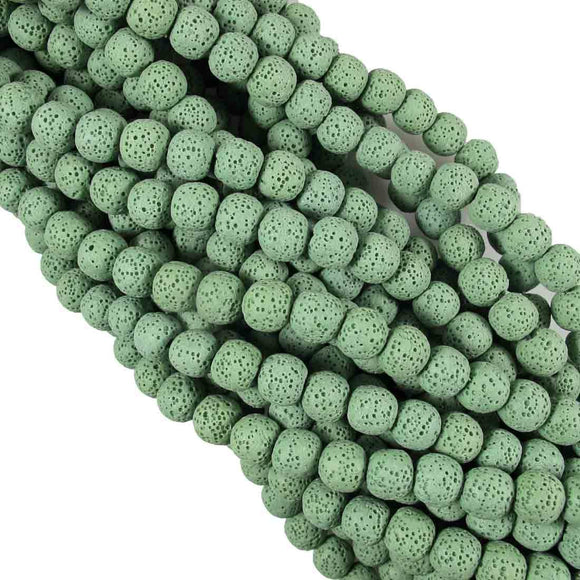 Semi Prec 12mm rnd lava stone fern 34pcs