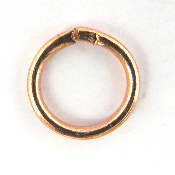 Metal 8x1mm jump ring NF RGOLD 20pcs