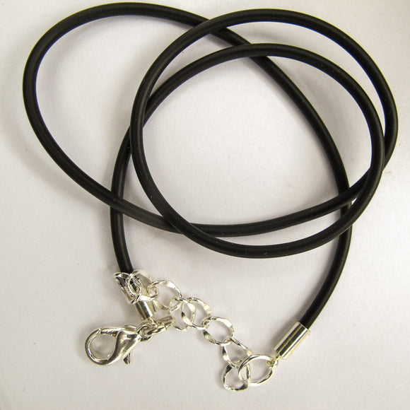 Neopreen 2mm necklace NF SIL 45cm 2pcs