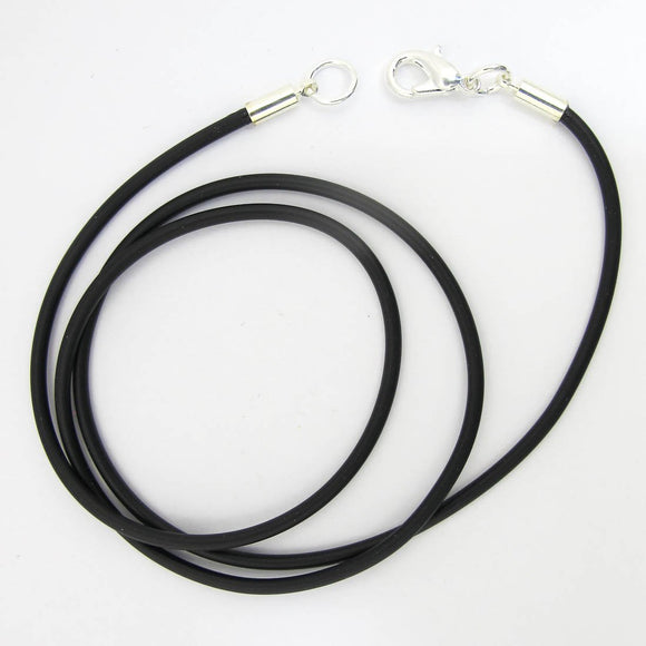 Neopreen 2mm necklace NF SIL 46cm 1pc
