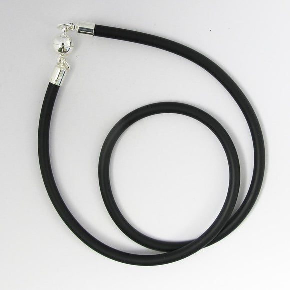 Neopreen 4mm necklace NF SIL 45cm 1pc
