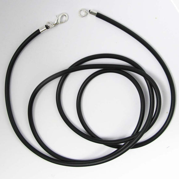 Neopreen 4mm necklace NF SIL 90cm 1pc