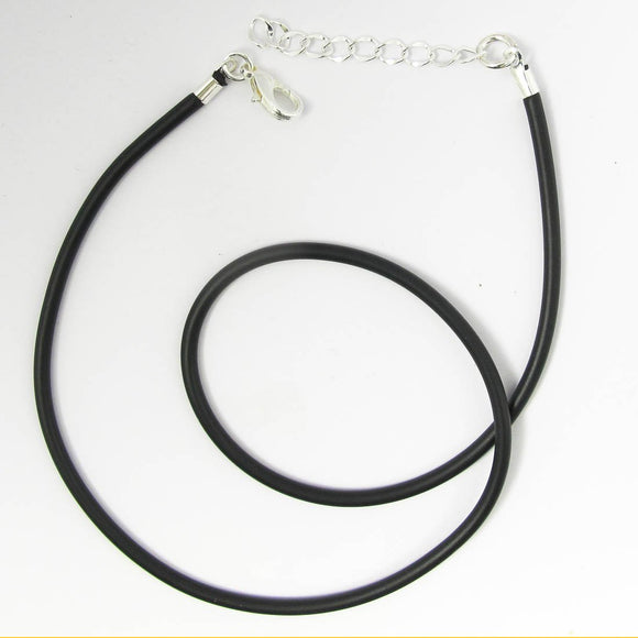 Neopreen 3mm necklace NF SIL 50cm 1pc