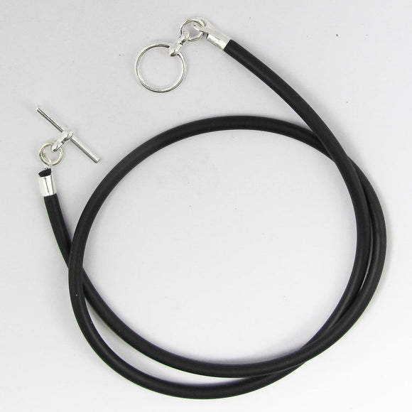 Neopreen 3mm necklace NF SIL 42cm 1pc