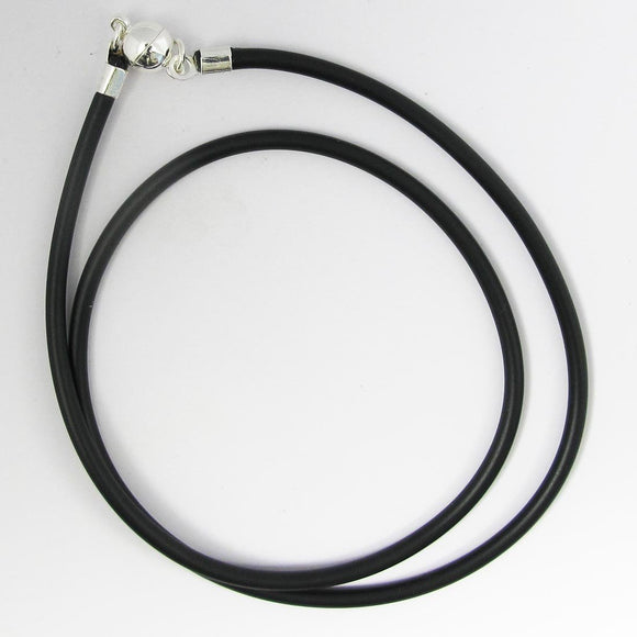 Neopreen 3mm necklace NF SIL 55cm 1pc