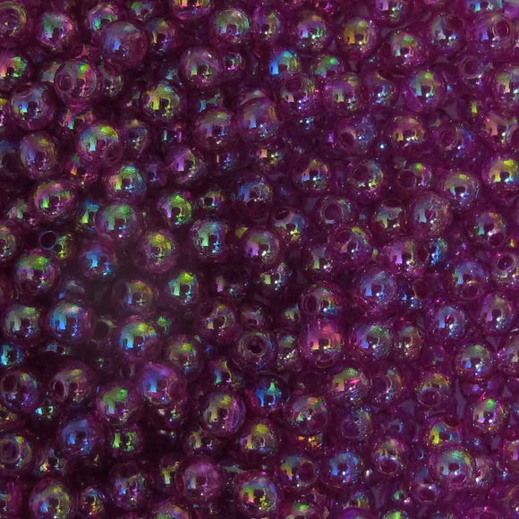Plas 4mm rnd purple AB 20g/700p