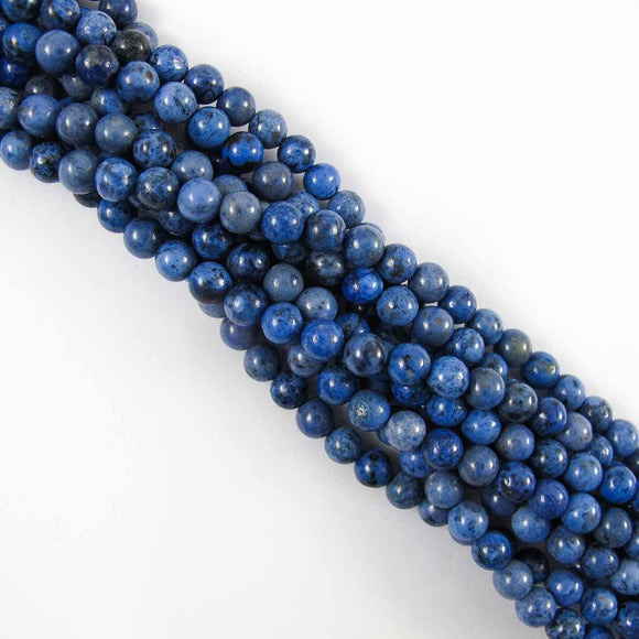 Semi prec 6mm rnd dumortierite 63p