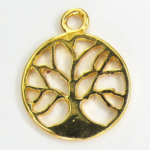 Metal 15mm tree of life pdnt NF GLD 2p
