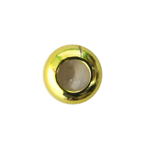 Metal 3x7mm washer silicon hole NF GLD 10p