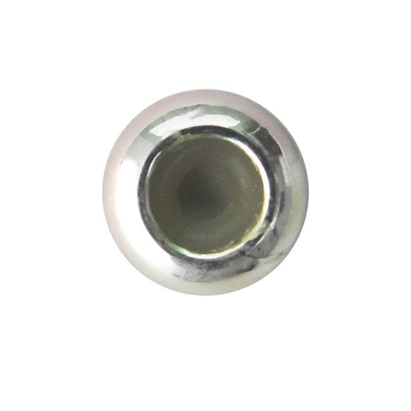 Metal 3x7mm washer silicon hole NF SILVER 10p